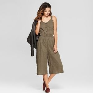 3/$20 NWT universal thread olive cropped jumpsuit
